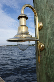 brass fisherman marine dock light