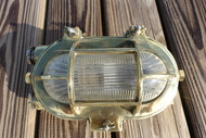 brass oval bulkhead light