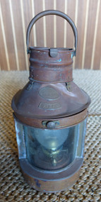 Hope Lee copper nautical ship lantern.