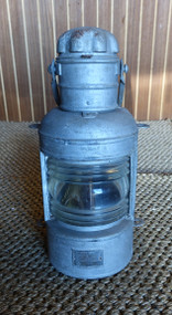 Vintage galvanized ships light