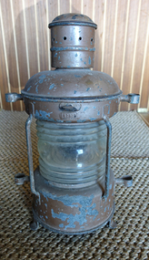 galvanized old ships anchor lantern