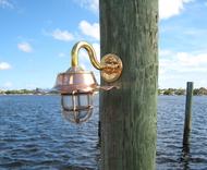 Nautical wave shade dock light
