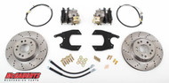 "GM Fullsize Car 10 or 12 Bolt Rear End - 13"" Rear Cross Drilled Disc Brake Kit; 5x5 Bolt Pattern - McGaughys Part# 64101"