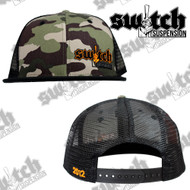 Switch Suspension Camo W/ Hunter Orange Snap Back Trucker Hat
