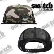 Switch Suspension Camo W/ Gray Snap Back Trucker Hat