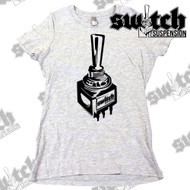 Switch Suspension Ladies Tee Shirt Large Logo Gray / Black