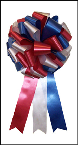 "LargeGiftBows.com - 12"" Patriotic Bows - Red, White & Blue"