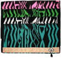 "Showman 36"" x 34"" 100% New Zealand Wool Zebra Saddle Blanket 22825"