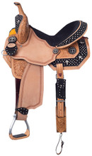 Silver Royal Desert Faith Barrel Racing Saddle Black Suede SR272