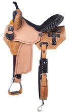 Midnight Run Barrel Saddle by Silver Royal SR274 Western Horse Saddle