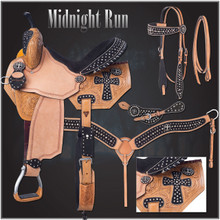 Midnight Run Barrel Saddle Package by Silver Royal 9SR274 Western Horse Saddle