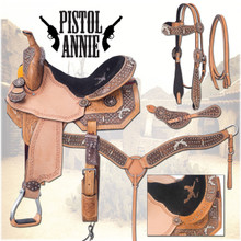 Pistol Pete Barrel Saddle Package by Silver Royal 9SR275 | Western Barrel Racing Saddle