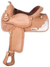Silver Royal Elite Competition and Trail Barrel Saddle 9SR252 | Western Horse Saddle | Trail Saddles
