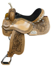 Double T Barrel Saddle 6480 with Texas Stars - Western Horse Saddle