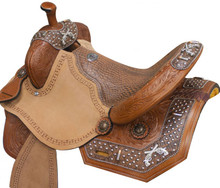 Double T Barrel Racing Saddle - Pistols - Western Horse Saddles