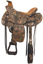 American Saddlery Camo Trail Saddle 129 - Western Horse Saddles