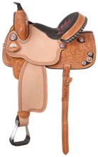 Silver Royal Fayette All Around Barrel Racing Saddle SR214 - Western Horse Saddles
