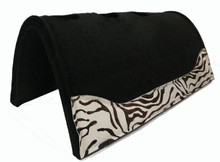 WonPad Exotic Saddle Pad - Zebra - Western Saddle Pad
