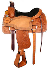 Circle S Roping Saddle Light 6410 - Western Horse Saddle