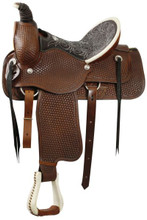 Circle S Roping Saddle Dark Oil 1899 - Western Horse saddle