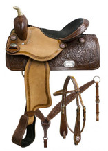 Double T Barrel Racing Saddle Set 7657 - Western Saddles
