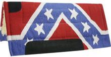 Showman Saddle Pad Confederate Rebel Flag 6130 - Western Tack
