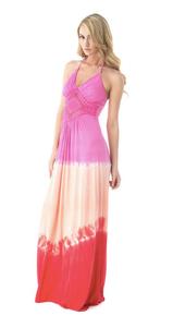 Sky Sorrele Tie Dye Maxi Dress Pink