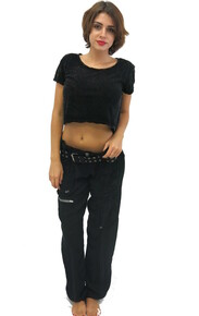 Pete and Greta Marika Cargo Pants Black