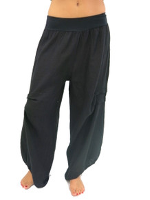 Tempo Paris Linen Harem Pants Black