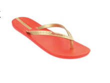 Ipanema Shoes Neo Sense Flip Flops Red Gold