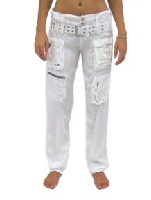 Pete and Greta Marika Cargo Pants White