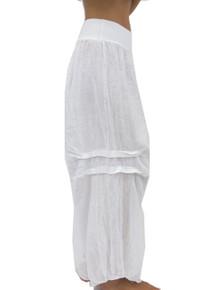 Tempo Paris Linen Harem Pants White
