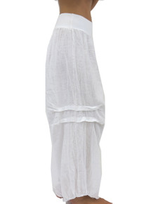 Tempo Paris Linen Harem Pants White
