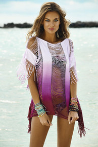 PilyQ Sunset Monique Cover Up Purple Ombre