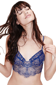 Skivvies by For Love and Lemons Bat Your Lashes Underwire Bra Sapphire
