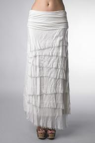 Tempo Paris Silk Maxi Skirt Ivory