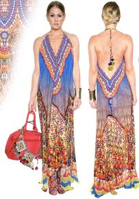 Parides Heritage Three Way Dress Blue