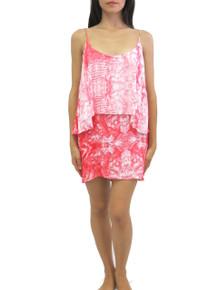 2015 Mikoh Swimwear Tikei Mini Dress Whitewater Anthurium