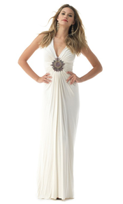 Sky Khatun Maxi Halter Dress Bone