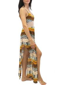 Indah Ulima Maxi Dress Kenya Print