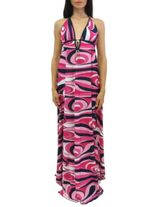 Donatella Corinne Maxi Dress Pink Pucci Print