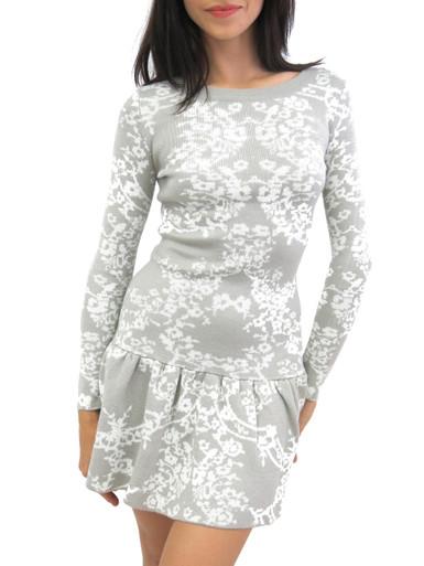 For Love and Lemons Knitz Long Sleeve Mini Dress