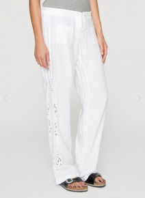 Johnny Was Crochet Eyelet Pant White