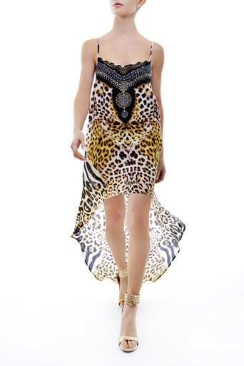 Parides Jaguar Hi-Low Cami Dress