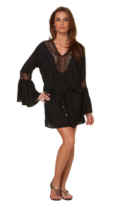 Vix Swimwear Solid Bella Tunic Black
