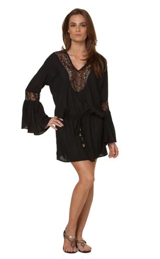 Vix Swimwear Solid Bella Tunic Black