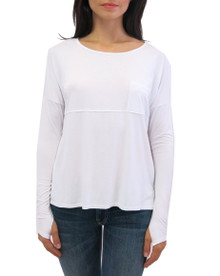 Feel the Piece Long Sleeve Top White