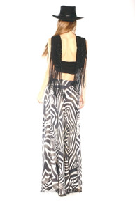 Parides Full Maxi Skirt Zebra
