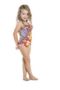2016 Agua Bendita Kids Bendito Quetzal One Piece Swimsuit