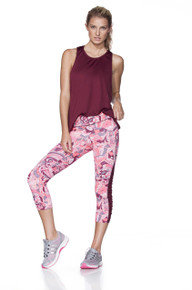 Maaji Active Rushed Track Capri Pants